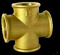 Крестовина прямая латунь / никель