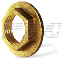 Зажимные фланцевые контргайки латунь / никель