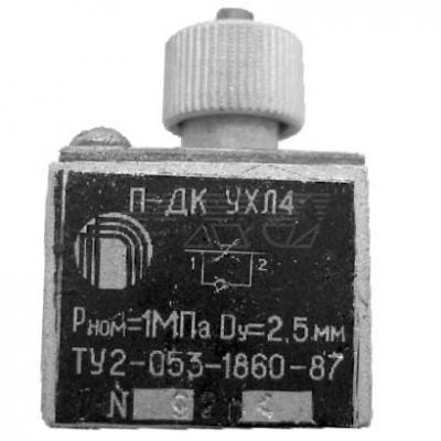 Пневмодроссель с обратным клапаном типа П-ДК