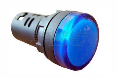 Фото арматуры светосигнальной AD22-22DS синей 220 В АС