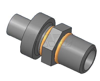 3D модель клапана предохранительного смазочного