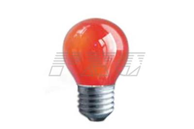 Фото лампы накаливания цветной в колбе PS45