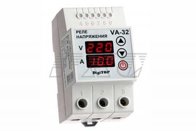 Фото реле с контролем тока VA-protector 32A