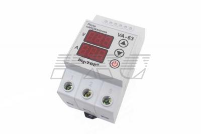 Реле с контролем тока VA-protector 63A фото №2