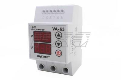 Реле с контролем тока VA-protector 63A фото №3