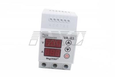 Реле с контролем тока VA-protector 63A фото №4