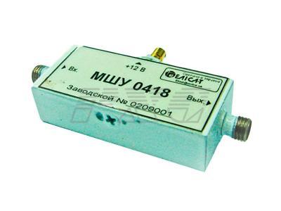 Усилитель СВЧ транзисторный малошумящий с устройством защиты Х-диапазона